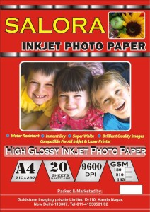 Gocolor High Glossy Inkjet Photo Paper 180 Gsm A4/ 20 Sheets Unruled A4 Photo Paper