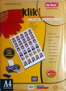 Desmat Klik Unruled A4 Photo Paper