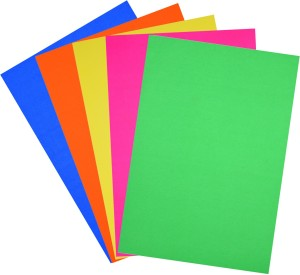 Atlas Multipurpose Plain A4 Coloured Paper Set of 1 Multicolor Best ...