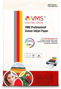 VMS High Gloss Unruled A4 Inkjet Paper
