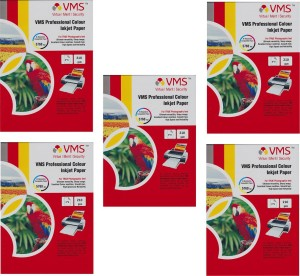 VMS 4*6 Professional Color Inkjet Glossy Power of 5Pkt. 500Sheets 210gsm Photo Paper