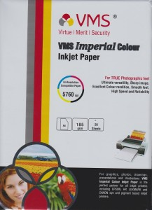 VMS A4 Imperial Color Inkjet Glossy 185gsm Photo Paper