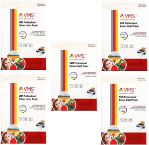 VMS 4*6 Professional Colour Inkjet Power of 5Pkt. 500Sheets 260gsm Photo Paper