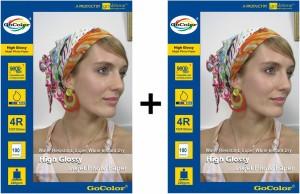 Gocolor 220 Gsm Glossy Inkjet Photo Paper 200 Sheet 4R Size Unruled 4R Inkjet Paper