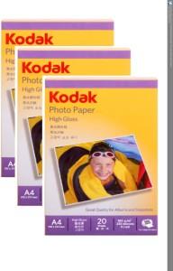 Kodak High Gloss Unruled A4 Inkjet Paper