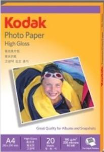 Kodak High Gloss 210 mm x 297 mm Unruled A4 Photo Paper