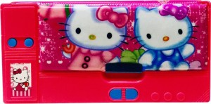 Priyankish Smart Kidz Hello Kitty Art Plastic Pencil Box ( Set of 1 Pink ) a31676a2459be