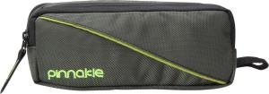 Pinnakle Dual Compartment Shiny Green Art Polyester Pencil Box