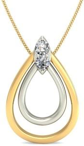 JewelsNext Love Forever Diamond Yellow Gold Pendant