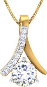 Samaira Gem and Jewelery Love Forever 14kt Swarovski Crystal Yellow Gold Pendant