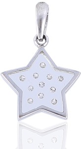 Jisha 18kt Diamond White Gold Pendant