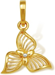 Nishtaa Yellow Gold Pendant