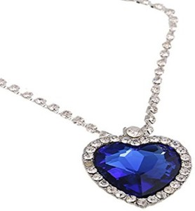 Caratcube sapphire blue austrian crystal heart of the ocean titanic caratcube sapphire blue austrian crystal heart of the ocean titanic pendant white gold crystal crystal pendant aloadofball Choice Image