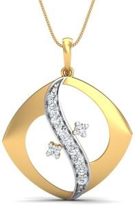 KuberBox Kaakit-Akit 18kt Diamond Yellow Gold Pendant