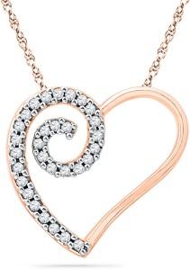 JPearls Devine Love 18kt Diamond Rose Gold Pendant