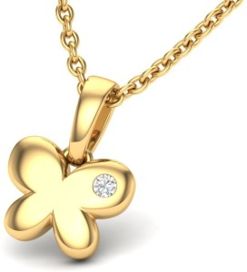 Theme Jewels LPT-0146-14K 14kt Diamond Yellow Gold Pendant