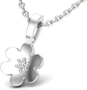 Theme Jewels LPT-0035-14KW 14kt Diamond White Gold Pendant