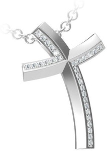 Anopchand Tilokchand Jewellers 14k White Gold Cubic Zirconia Silver