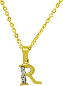 b5e614cf3 Mahi R Letter 24K Yellow Gold Cubic Zirconia Brass Alloy Pendant Best Price  in India | Mahi R Letter 24K Yellow Gold Cubic Zirconia Brass Alloy Pendant  ...