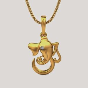 Aiza Yellow Gold Pendant