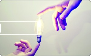 Printland Credit Card Light The Bulb 8 GB Pen Drive