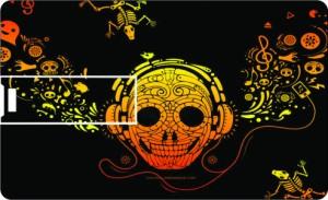 Printland Credit Card Skull music 8 GB Pen Drive