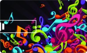 Printland Credit Card Waves of Music 8 GB Pen Drive