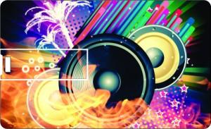 Printland Credit Card DJ Speakers 8 GB Pen Drive