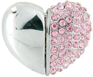 Microware Heart Shape Pink Jewellery Designer Pen Drive 4 GB