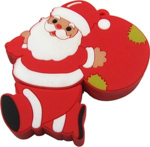 Microware Santa Claus With Gift Bag Shape 16 GB Pen Drive