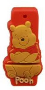 Microware Winnie Pooh Cartoon Shape Fancy 16 GB Pen Drive