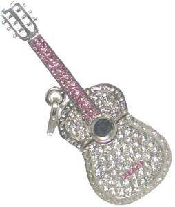 Quace Silver Guitar 8 GB Pen Drive