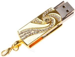Microware Golden Crystal 8 GB Pen Drive