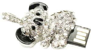 Microware Panda Shape Jewellery Designer Pen Drive 4 GB