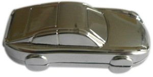 Microware Car Shape Metal Jewellery Designer Pen Drive 4 GB
