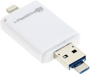 ROQ 3 in 1 Premium Flash Drive For Lightning With USB Function 64 GB OTG Drive