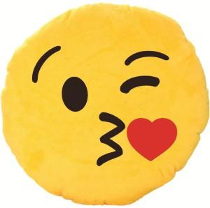 Skylofts Stuffed Plush Kissing Emoji Smiley Cushion  - 37 cm