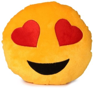 Skylofts Cute Love Heart Smiley Pillow Cushion  - 40 cm