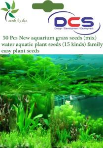 DCS (087) 50 New aquarium grass (mix) water aquatic plant Seed50 per packet