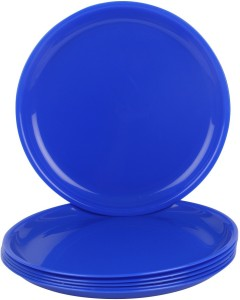 Day2Day Forever Royal Blue Microwave Safe Dinner Plates Set Pack of 6 (27x27x2 cm) Plate Set