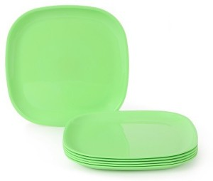 JOY HOME Quarter Plate Square Green Plate