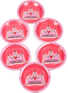 Funcart Princess Crown Theme 7 Inch Plate