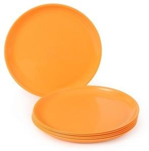 JOY HOME Quarter Plate Round Orange Plate