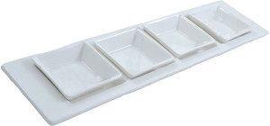 Shrih 4 Square Bowls With Tray Set