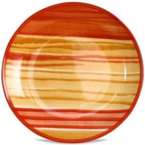Caffeine 7IN Ceramic in Orange and Beige Studio (Set of 1 Handmade Plate