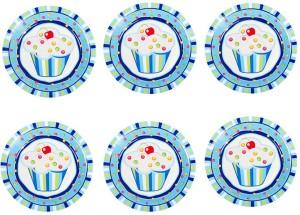 Funcart Sweet Treat Cupcake Plate Set