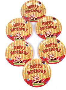 Funcart Stripe Birthday Theme 9 Inch Plate