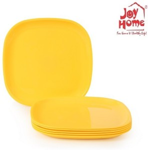 JOY HOME Full Plate Square Yellow Plate