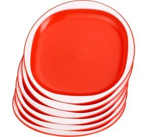 Somil Colorful Square Microwave safe Designer Plate Set (Set Of Six) Plate Set