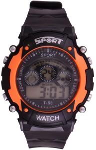 Rokcy Digital Digital Smart Watch Multi Color Dial Sports Watch for Kids Orange